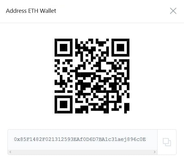 QR code address ethereum wallet coinbase