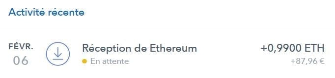 reception ethereum