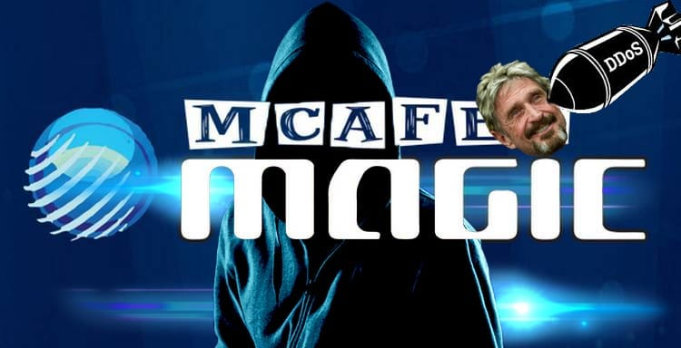 McAfee's crypto trading platform was attacked by a DOS attack right short while after it was launched